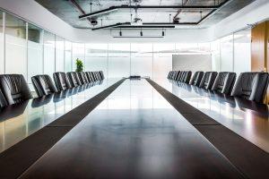 Healthcare Executive Board Room Empty
