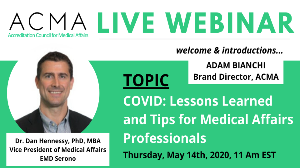 Webinar Title: Coping with COVID19 - Maintaining Work-Life Balance